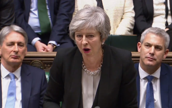 Theresa May, mardi 29 janvier au Parlement britannique.