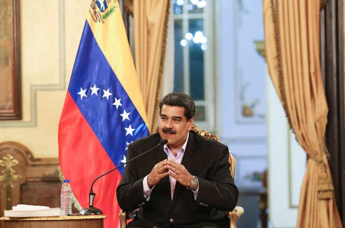 Le président vénézuélien Nicolas Maduro, au palais présidentiel, à Caracas, le 28 janvier 2019.