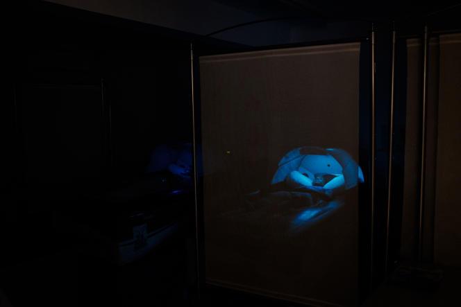 Une salle de relaxation avec luminothérapie à l'Insep (Institut National du Sport, de l'Expertise et de la Performance) de Vincennes, le mercredi 16 janvier 2019.