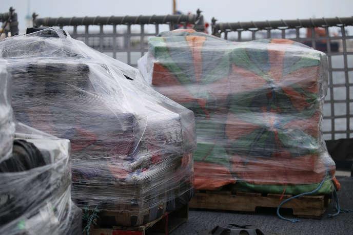 Saisie de tonnes de drogues dans un port de Floride en avril 2018.