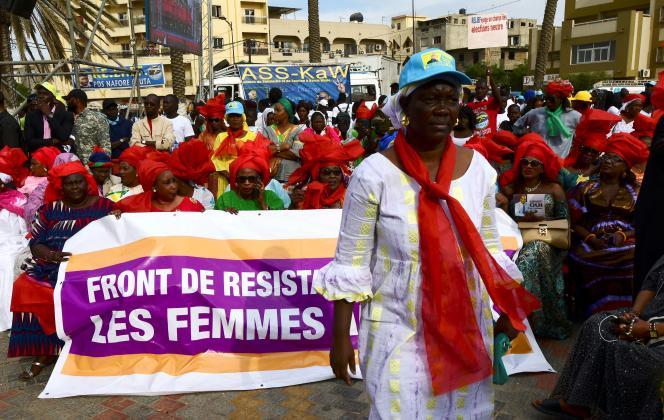 Manifestation de femmes de l'oppositionS le 11 janvier 2019 à Dakar.