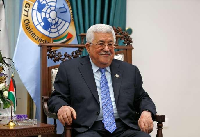 Le président de l'Autorité palestinienne, Mahmoud Abbas, à Ramallah, le29janvier2019.