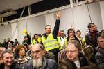 Le grand débat national de Pau, animé par le maire de la ville François Bayrou. Près de 500 personnes étaient présentes, le 25 janvier 2019.