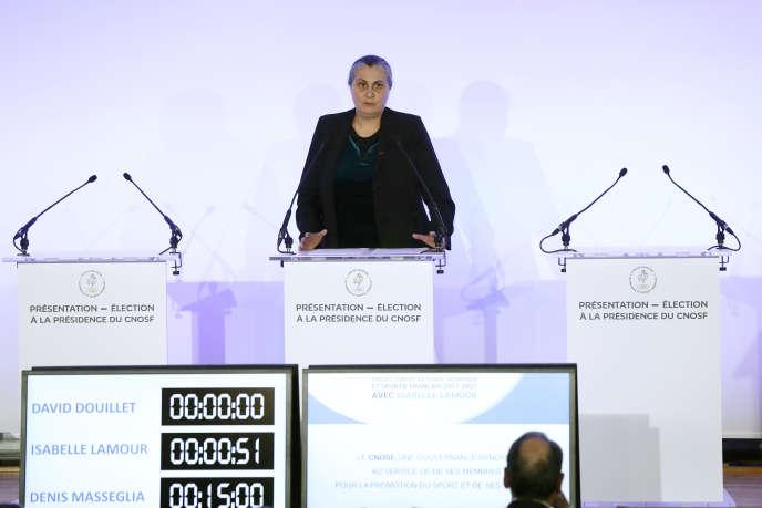 Une seule femme dirige une fédération d'un sport olympique: Isabelle Spennato-Lamour, pour l'escrime.