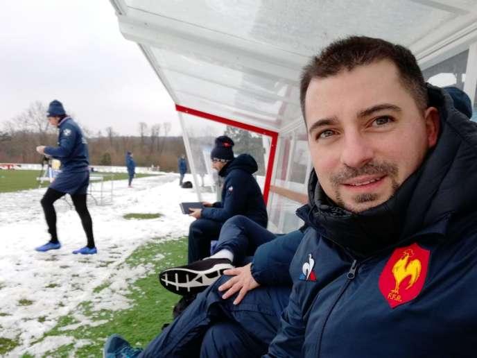 A Marcoussis, pendant un entraînement du XV de France, en janvier.