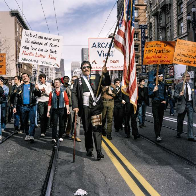 AIDS Activists, First Martin Luther King Jr. Day Parade, 1986.