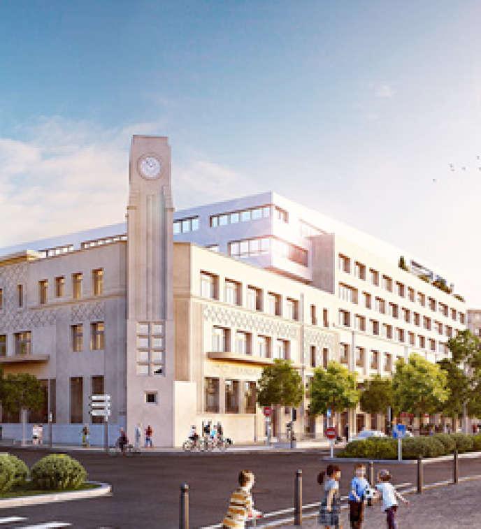 La cité des sciences et de l'innovation, située dans l'ancien siègede la compagnie maritime SNCM, à Marseille.