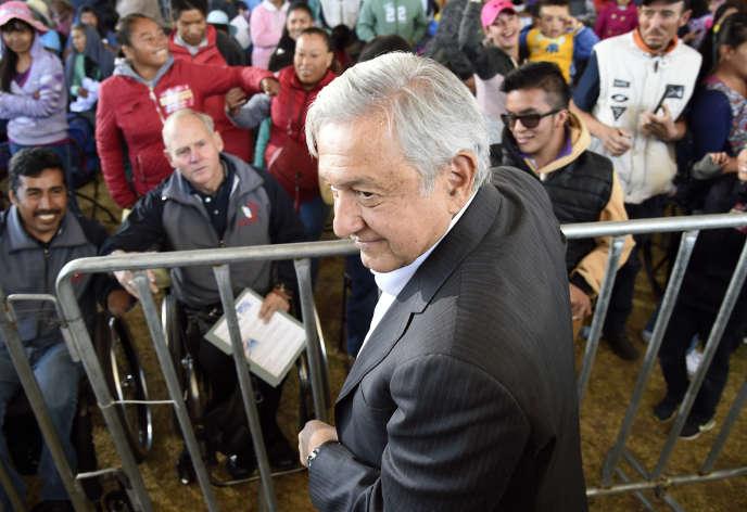 Andres Manuel Lopez Obrador à Mexico, le 22 janvier.