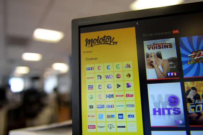 Molotov est une plate-forme de visionnage en ligne de contenus de télévision gratuits et payants.