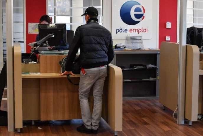 Dans une agence de Pôle Emploi à Montpellier, le 3 janvier.