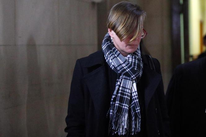 EmilySpanton, au palais de justice de Paris, le 14 janvier.