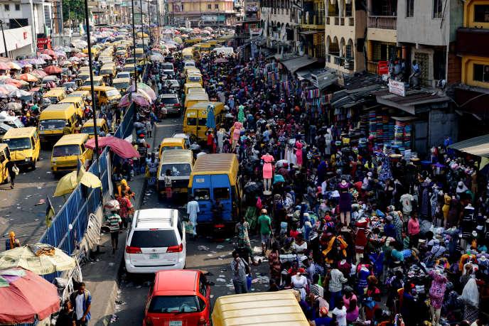 Embouteillage à Lagos, capitale économique du Nigeria.