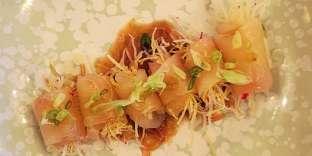 Carpaccio de limande à queue jaune (dite « yellowtail »