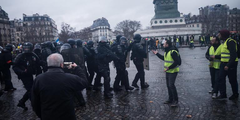 © Julien Muguet pour Le Monde, Paris, France le 26 janvier 2019 - Acte XI de mobilisation du mouvement des