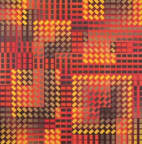 «La mosaïque papillotante de cette peinture offre des effets de dégradés particulièrement raffinés. Le rouge, le jaune, l'or et le brun se fondent d'une manière que nulle palette traditionnelle n'obtiendrait.»