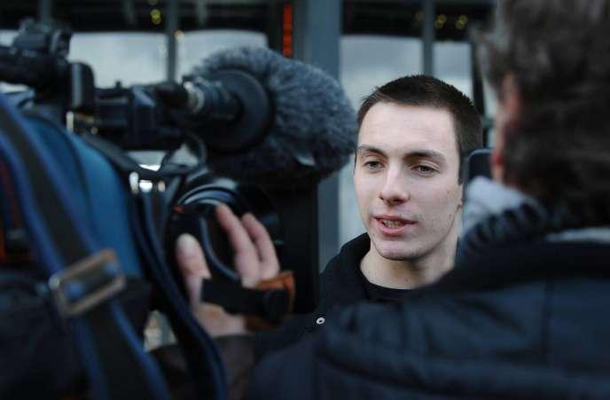 Pierre Douillard à l'ouverture du procès le 6 mars 2012 à Nantes.