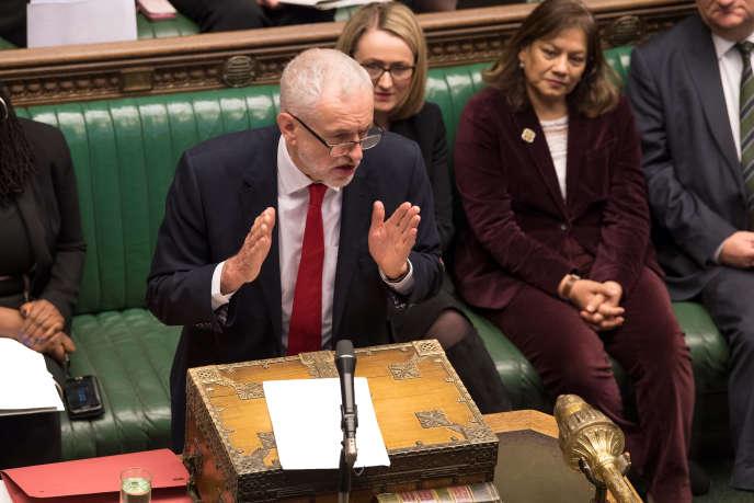 Le leader du parti travailliste, Jeremy Corbyn, au Parlement, à Londres, le 30 janvier 2019.
