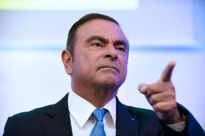 Carlos Ghosn, à la Défense, en octobre 2017.
