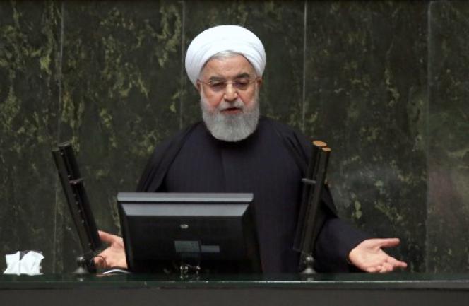 Le président Hassan Rohani, au Parlement iranien, à Téhéran, le 25 décembre 2018.