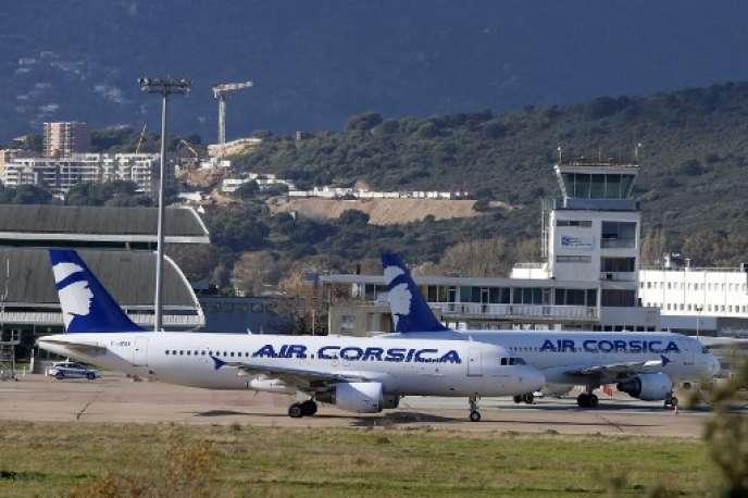 La seule compagnie française qui tire son épingle du jeu est Air Corsica. Ici, à Ajaccio, le 19 janvier 2019.