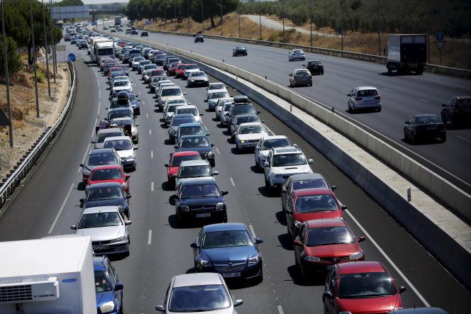 sur l'autoroute A-49, près de Séville, en Espagne, en août 2015.