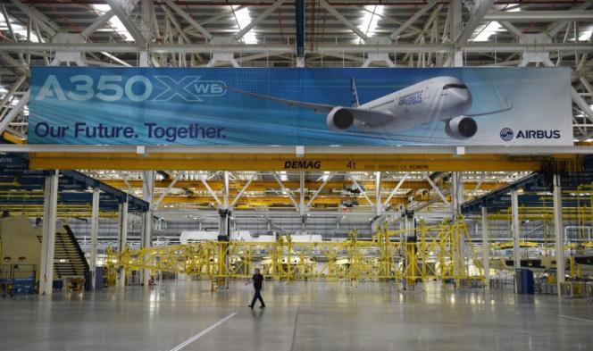 Dans une usine d'Airbus près de Broughton (nord-est du pays de Galles), en décembre 2016.