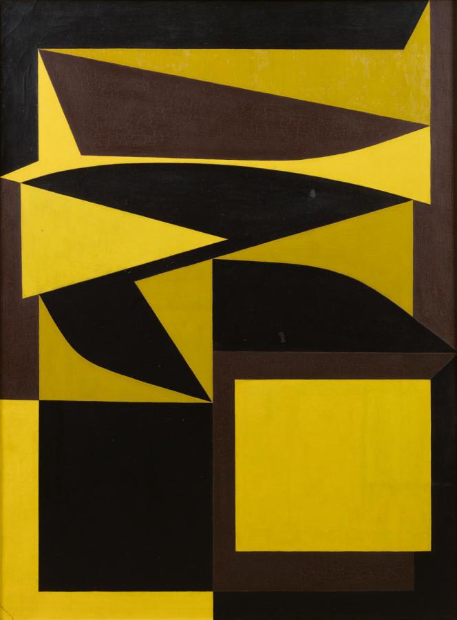«Ezinor», de Victor Vasarely, peint en 1949-1953, vendu 187500€ chez Sotheby's, le 18 octobre 2018.