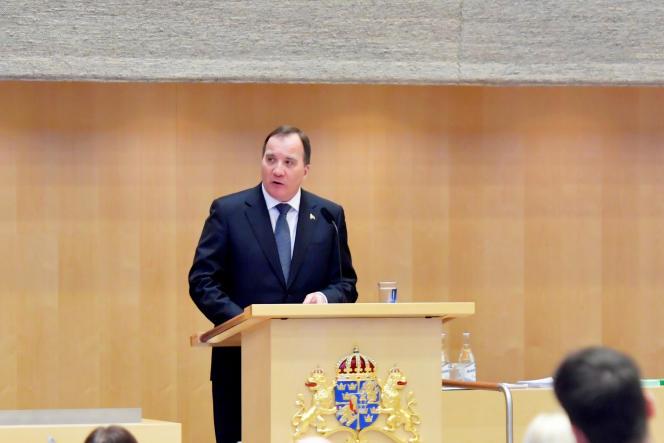 Le premier ministre suédois, Stefan Lofven, au Parlement, à Stockholm, le 2& janvier.
