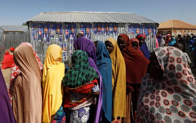 Un camp de réfugiés à Maiduguri, au Nigeria, le 16 janvier.