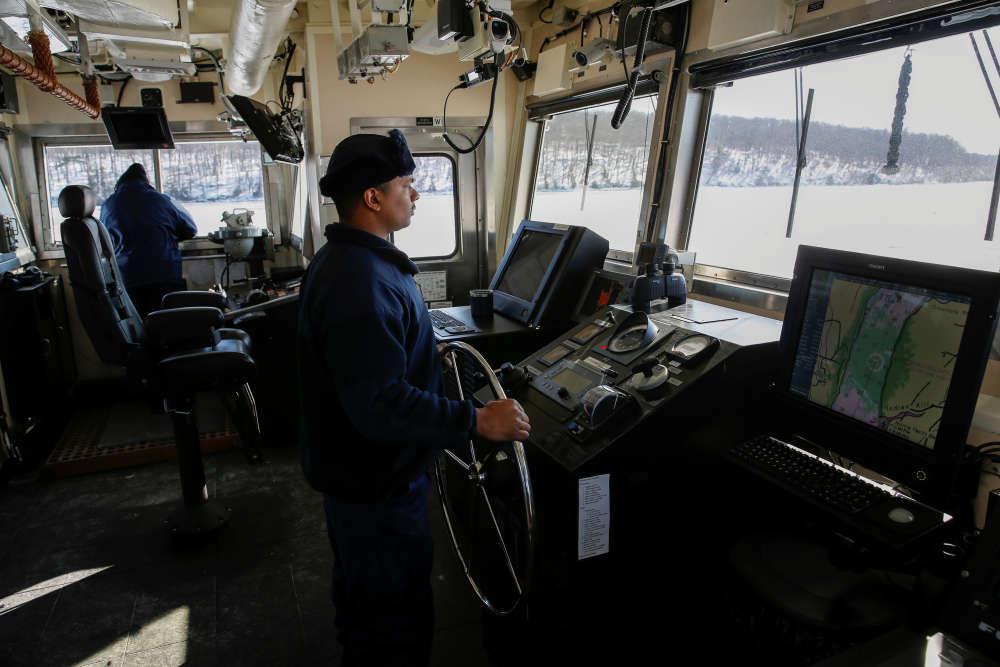Ils sont vingt gardes-côtes à travailler au bord du«Penobscot Bay».