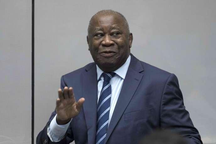 Laurent Gbagbo à la Cour pénale internationale, le 15janvier2019.