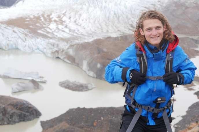 Robin Amaz, à quelques jours de l'embarquement, à la Laguna Torre, en Patagonie, le 29 janvier.