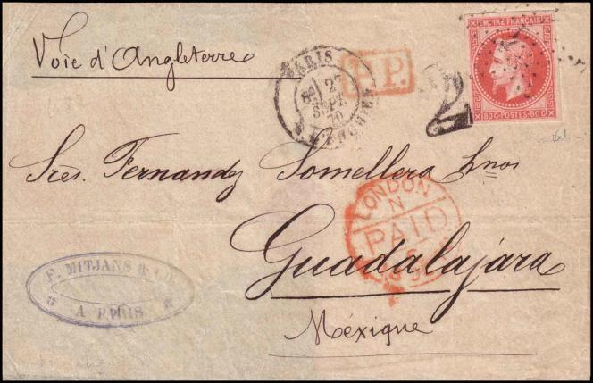 Un beau« ballon monté», qui désigne une lettre transportée par ballon monté au départ de Paris assiégé, durant la guerre franco-prussienne de 1870. Prix de départ: 75000 euros.
