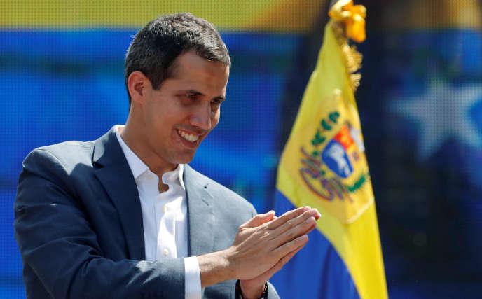 Paris, Londres, Madrid et Stockholm ont reconnu Juan Guaido, ici à Caracas le 2 janvier, comme ayant la légitimité pour organiser une élection présidentielle.