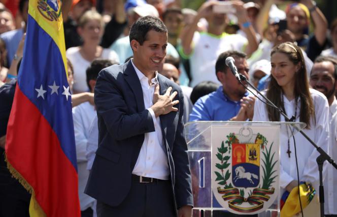 Le président autoproclamé du Venezuela, Juan Guaido, samedi 2 février 2019 à Caracas.