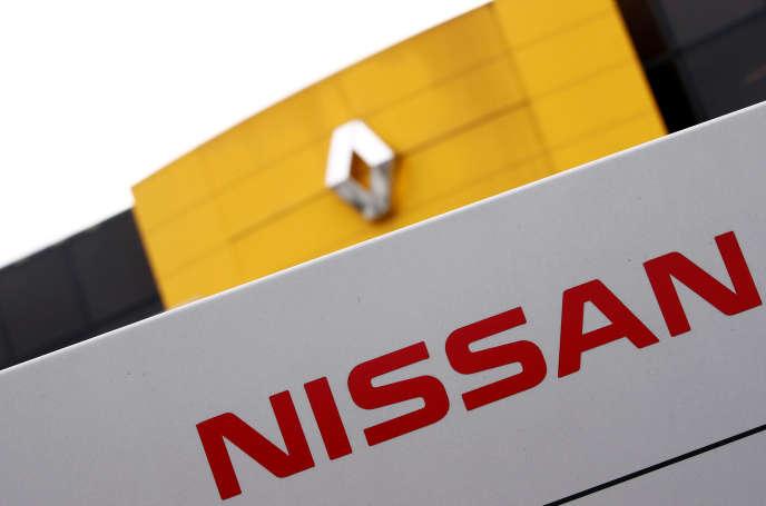 Les logos de Nissan et Renault chez unconcessionnaireàsaint-Avold, en Moselle, le 15 janvier.