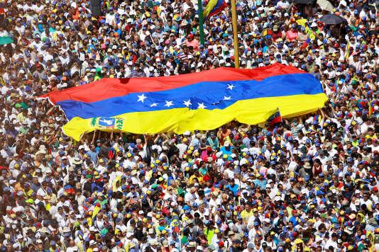 Dnas une manifestation d'opposition à Nicolas Maduro, à Caracas, le 2 février.