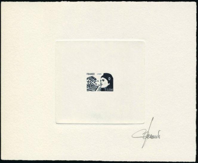 Compter 1250 euros pour cette épreuve d'un timbre non émis d'usage courant à l'effigie de Marianne, chez Feldman.