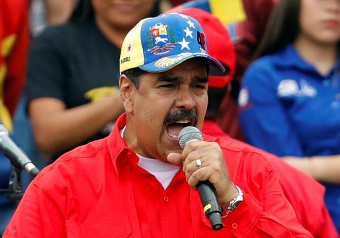 Nicolas Maduro a pris la parole lors du rassemblement en l'honneur du 20e anniversaire de la révolution bolivarienne.