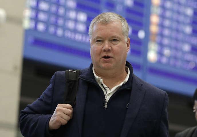 Le négociateur américain pour la Corée du Nord Stephen Biegun arrive à l'aéroport Sud-Coréen d'Incheon, le 3 février.