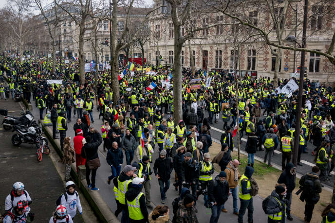 Manifestation de « gilets jaunes» à Paris, samedi 2 février 2019.