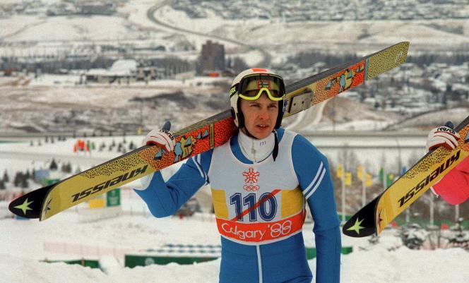 Matti Nykänen lors des JO de Calgary, en 1988.