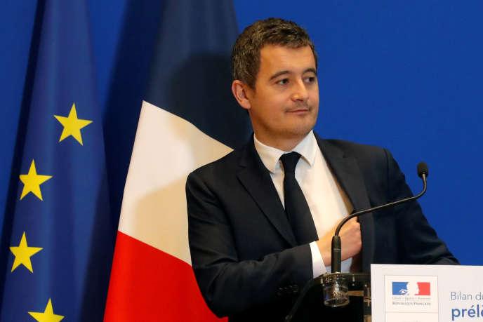 Gérald Darmanin, ministre de l'action et des comptes publics, lors d'une conférence de presse, à Bercy, le 4 février 2019.