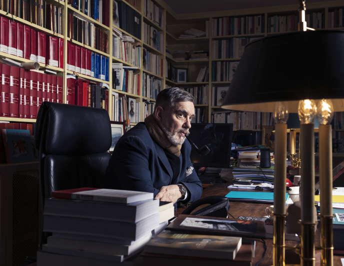 François Sureau, avocat, dans son bureau à Paris, le 3 février.