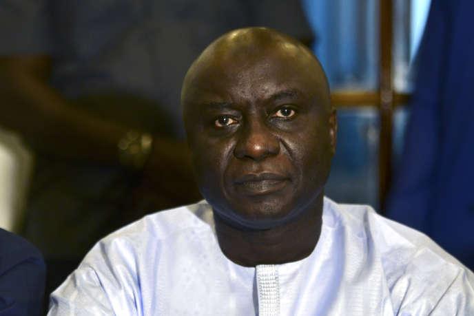 Idrissa Seck, président du parti Rewmi et candidat à l'élection présidentielle de 2019, à Dakar, le 15 janvier.