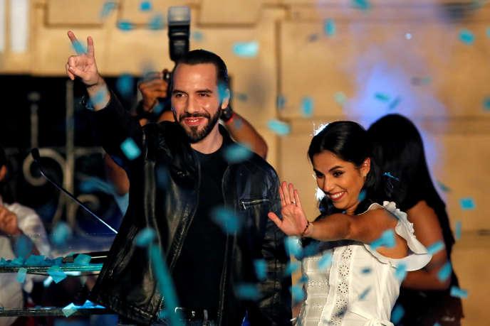 Le nouveau président du Salvador, Nayib Bukele, et son épouse, dimanche 3 février 2019 à San Salvador.