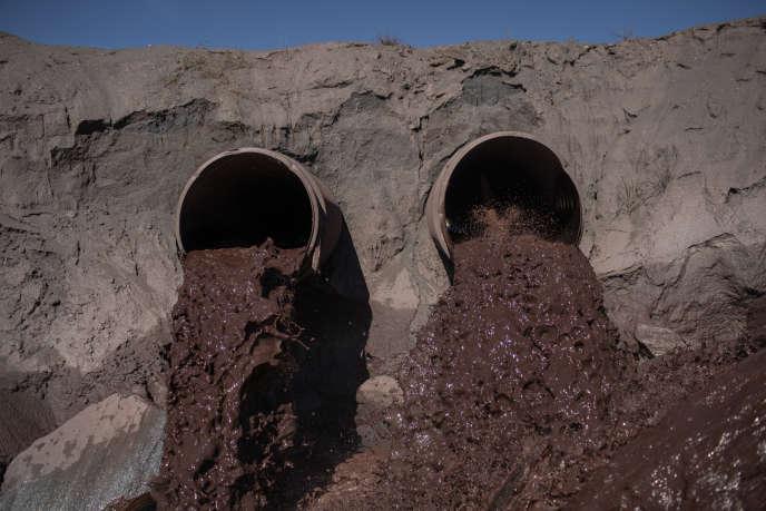 Le barrage dePontal, exploité par la compagnie Vale, près de la ville d'Itabira dans l'Etat brésiliende Minas Gerais, le 31 janvier.