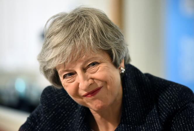 La première ministre britannique, Theresa May, à Belfast, le 5 février.