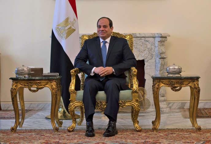 Abdel Fattah Al-Sissi, le président égyptien auCaire, le 10 janvier 2019.