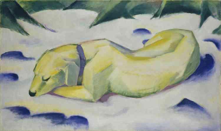Et c'est dans ce sens que Franz Marc trouvera dans l'animal son principal motif pictural‒ lui permettant d'exprimer un sentiment profond, et presque lyrique, pour la nature.
